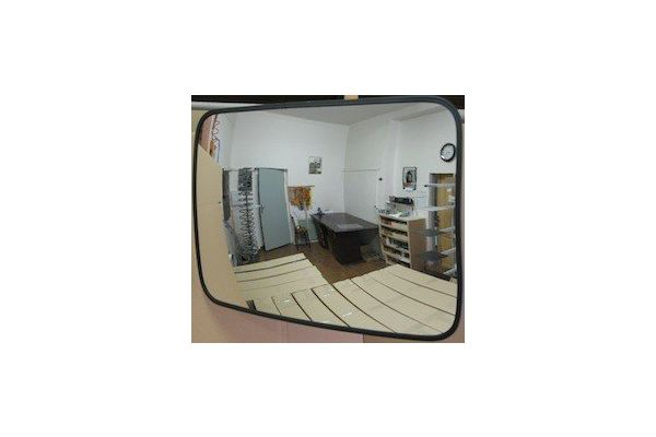 Convex binnenspiegel rechthoekig 600 x 800 mm