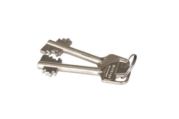 Dubbelbaard sleutel - kort