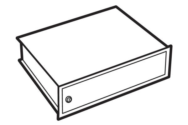 Lips Brandkasten afsluitbaar binnenvak voor modellen DPC 160, 240, 320 en 400T