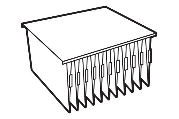 Extra systeemlegbord Lips Brandkasten archiefkast 880