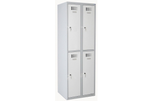 Lockerkast DRL L-322W - 2 koloms, 4 lockers • SecrutiyWebshop.com