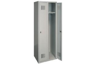 Garderobekast DRL-G 320W - 2 koloms, 2 lockers, extra breed • SecrutiyWebshop.com