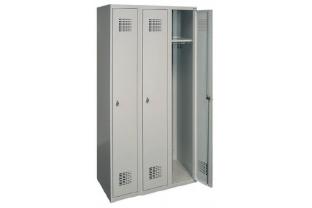 Garderobekast DRL-G 330W - 3 koloms, 3 lockers, extra breed • SecrutiyWebshop.com