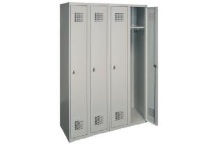 Garderobekast DRL-G 340W - 4 koloms, 4 lockers, extra breed • SecrutiyWebshop.com