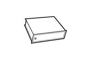 Afsluitbaar binnenvak Combi-paper, hoogte 350 mm, model 490/700