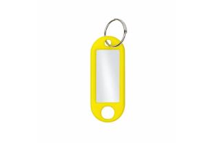 Sleutelhangers - geel (doos van 100 stuks)