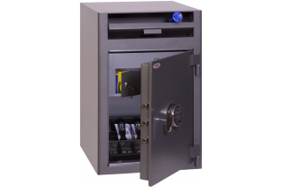 Rotary Drum Deposit Safe offering œ 3,000 cash rating. Ideal for daily cash deposits or valuables. Fitted with a high electronic digital lock ✓ Next Day Delivery
