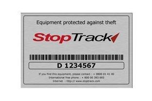 Permanent Markeringsplaatje (Stoptrack) • SecrutiyWebshop.com