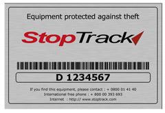 Stoptrack-permanent-markeringsplaatje