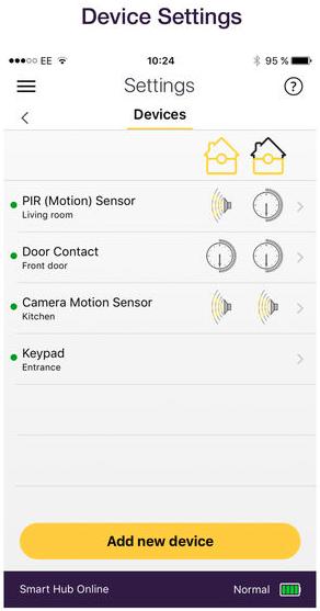Accessoires koppelen met app